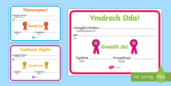 Sports Day Award Certificates - sports day, sport's day, welsh, certificates, chwaraeon, mabolgampau, certificate, sports day certi