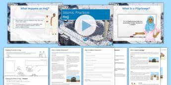 Hajj Lesson Pack - Hajj; Islamic Practices; Five Pillars; Makkah