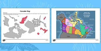 Canada Day Map Activity Sheet - canada, Canada Day, Canada's Birthday, Confederation, History, Dominion Day, The British North America Act, The Constitution Act, Parliament, holiday, worksheet