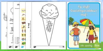 Llyfryn Gweithgareddau yr Haf - llyfryn, haf, diwedd, tymor, gweithgareddau, activity booklet