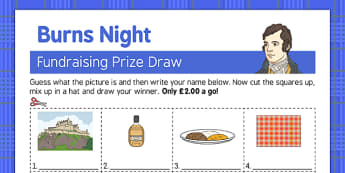 Burns Night Fundraising Sheet - Elderly, Reminiscence, Care Homes, Burns' Night