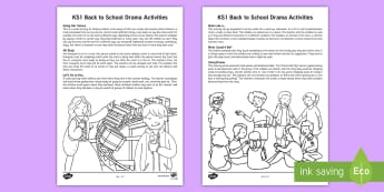 KS1 Back to School Drama Teaching Ideas - games, drama activities, year 1, year 2, speaking and listening, team work