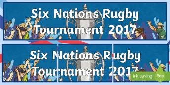 Six Nations Rugby Tournament 2017 Display Banner-Scottish - CfE, calendar events, Scotland, Scottish, traditions, history, celebrations, 6 nations, six nations,
