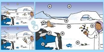 The Antarctic Picture Hotspots - The Antarctic, Antarctica, Polar Regions, South Pole, explorers, cold, snow, ice, penguins, whales, Twinkl Go, twinkl go, TwinklGo, twinklgo