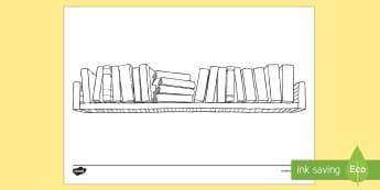Doodle Draft Bookshelf Activity Sheet
