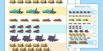 Talking Steam Train Themed Counting Sheet - thomas the tank engine, talking steam train, counting, count