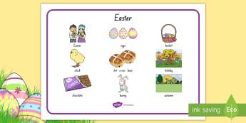 New Zealand Easter Word Mat - New Zealand, Easter, Bunny, Lent, eggs, basket