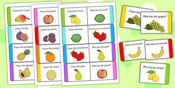 Fruit Loop Cards - fruit, loop cards, loop, cards, activity