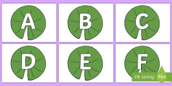 A-Z Alphabet on Lily Pads - A-Z, A4, display, Alphabet frieze, Display letters, Letter posters, A-Z letters, Alphabet flashcards