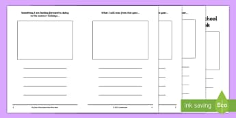 End of School Year Mini Book Writing Template - End of School Year, End of Term, Summer holidays, mini books, end of school, transition, writing ref