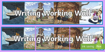 Writing Working Wall Display Banner - Y3, Y4, KS2, Literacy, learning prompts, writing, classroom environment