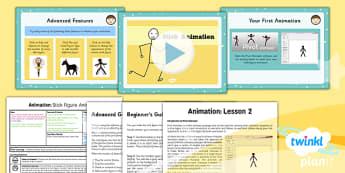 PlanIt - Computing Year 4 - Animation Lesson 2: Stick Animation Lesson Pack - planit, computing, unit