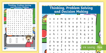 NI Thinking Skills and Personal Capabilities Thinking, Problem Solving, Decision Making Differentiated Word Search - TSPC, Success Criteria, Northern Ireland, Curriculum, Targets
