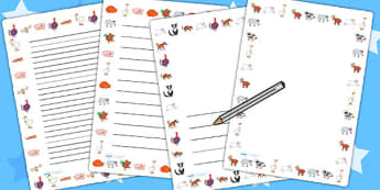 Page Borders to Support Teaching on Farmyard Hullabaloo - farm, borders, page border