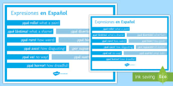 Spanish Expressions Display Poster - spanish, expressions, display poster, display, poster, language