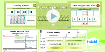 PlanIt Y2 Number and Place Value Ordering Numbers (1) Lesson Pack - Solve Problems, Problem Solving, order, sort, compare, year 2, year two, ks1, maths, ppt, powerpoint