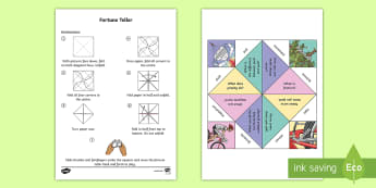 Forces Fortune Teller Template - push, pull, gravity, friction, magnetism, Fundamental forces, Mechanical energy, Australia