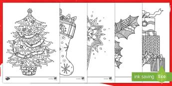 أوراق التلوين الذي يساعد على التركيز  حول موضوع عيد الميلاد - أوراق التلوين التي تساعد على التركيز، نشاط، أنشطة، مها