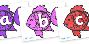 Phoneme Set on Fish (Multicolour) to Support Teaching on The Rainbow Fish - Phoneme set, phonemes, phoneme, Letters and Sounds, DfES, display, Phase 1, Phase 2, Phase 3, Phase 5, Foundation, Literacy