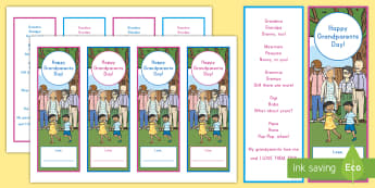 Grandparents Day Poem Keepsake Bookmarks - Grandparents Day, Grandma And Grandpa, All About Me, My Family, Families, gift, appreciation