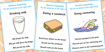 3 Step Sequencing Cards - sequencing, cards, 3, step, sen, steps