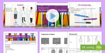 Whodunnit? Scientific Investigation Lesson Pack - Secondary Transition Resources, chromatography, fingerprints, whorls
