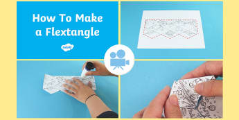 How to Make a Flextangle Video - paper craft, instructions, craft, paper models, hobbies