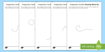 Imagination Doodles Drawing Warm-Up Activity - CfE Expressive Arts, art activity, drawing activity, doodles, drawing warm up.,Scottish