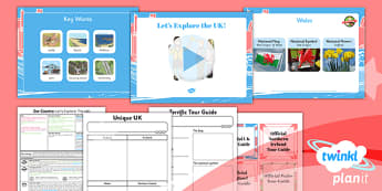 Geography: Our Country Unit: Let's Explore the UK Year 1 Lesson Pack 4