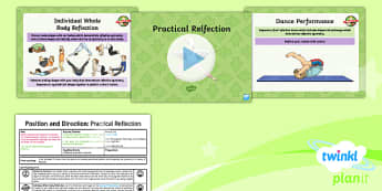 PlanIt Y5 Position and Direction Lesson Pack (4) Practical Reflection - Position and Direction, reflection, reflective symmetry, mirror line