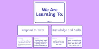 New Zealand Reading End of Year 4 We are Learning Display Pack