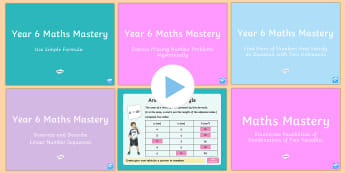 Year 6 Algebra Maths Mastery Activities Resource Pack-Australia - Year 6 Maths Mastery, algebra, formulae, equations, missing numbers, linear sequences, morning activ