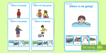 Where Are They Going? Making Inferences Activity Sheets - Inference, visual support, inferencing, drawing inferences, autism, asd, sen, speech and language