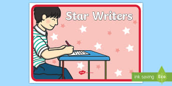 Star Writers Display Poster - good, display, banner, sign, poster, writing, star writier, writting