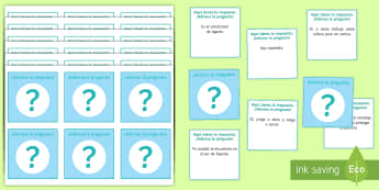 Guess the Question in Spanish Card Game - Spanish Reading Comprehensions, guess the question, asking questions, card game, speaking