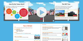 Whole School Tour of Britain Assembly Pack - Bicycle, race, competitor, powerpoint, cyclist
