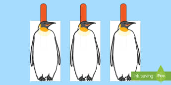 Penguin Themed Finger Spacer Cut-Outs - Penguin Themed Finger Spacer Cut-Outs - Writing Finger Spacers, animals, education, home school, chi