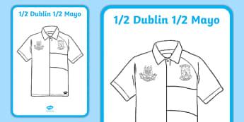 Editable Half Mayo Half Dublin Jersey Poster A2