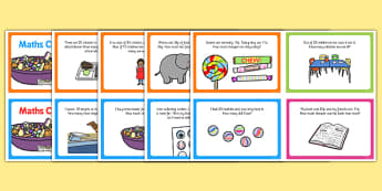 KS1 Subtraction Challenge Cards - subtract, challenges, card
