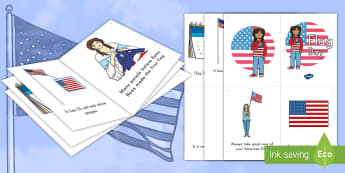 Flag Day Emergent Reader - American, Beginning Reader, Stars and Stripes, Old Glory, reading, early reading