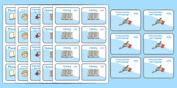 Editable Foundation Stage Book Labels - EYFS, book label, editable label, subject labels, exercise book, workbook labels, textbook labels