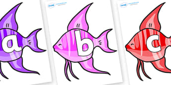 Phoneme Set on Angelfish - Phoneme set, phonemes, phoneme, Letters and Sounds, DfES, display, Phase 1, Phase 2, Phase 3, Phase 5, Foundation, Literacy