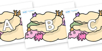 A-Z Alphabet on Sea Corals - A-Z, A4, display, Alphabet frieze, Display letters, Letter posters, A-Z letters, Alphabet flashcards