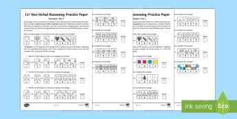 11+ Non Verbal Reasoning Analogies Assessment Pack