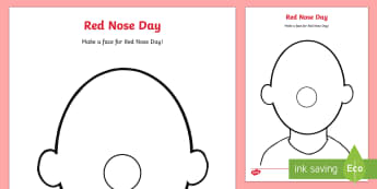 Red Nose Day Blank Faces Activity Sheets - red nose day, worksheets, colouring, faces, blank faces, charity, fundraising, comic relief