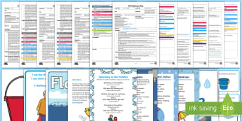 EYFS Water Adult Input Planning and Resource Pack - Early Years, planning, water cycle, rain, rivers, sea, oceans, capacity, floating and sinking.