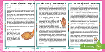 KS1 The Trail of Diwali Lamps Story - Divali, Celebration, Hindu, Festival, Fiction