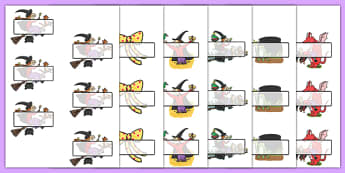 Editable Self-Registration to Support Teaching on Room on the Broom - room on the broom, self registration, self reg, daily routine, pupil registration, themed self reg