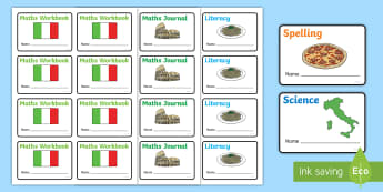Rome Themed Book Labels - Rome Themed Book Labels - book labels, book label, lable, key stage 1, key stage one, subject labels