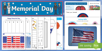 Memorial Day Early Childhood Resource Pack - Memorial Day, Memorial Day Powerpoint, Civil War Remembrance, Military,